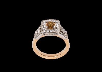Chocolate Orange Diamond Ring