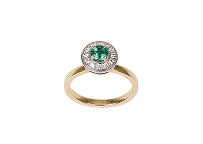Emerald Diamond Modern Cluster