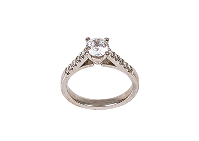 1ct Diamond White Gold Ring