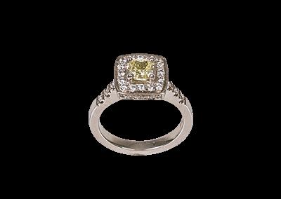 Intense Yellow Fancy Diamond Ring